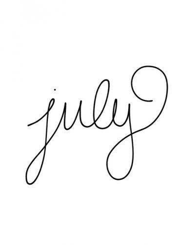 Vooruitblik juli